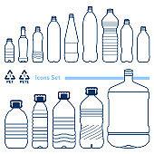 Plastic Bottles Set