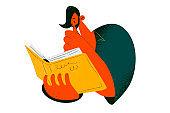 Reading books, education, hobby concept