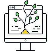 Designer art application icon alive design vector