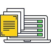 Content management and blog creation vector icon