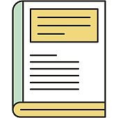 Textbook vector book icon illustration on white