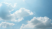 Blue sky and White cloud. clear blue sky with plain white cloud