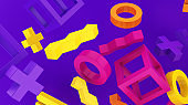 Background of Colored Geometric Shapes