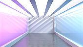 Empty Illuminated Room
