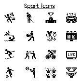 Sport icons set vector illustration graphic design