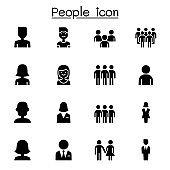 People icon set vector illustration graphic design