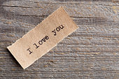 """The word """"I love you"""" written in vintage type"""