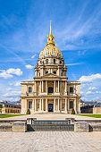 Facade of the Dome des Invalides in Paris.