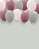 background of dull color balloon illustration
