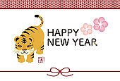 New Year's card template for the year of the tiger