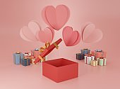 3d rendering illustration of gift boxes