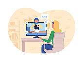 Online tutorial on baking 2D vector web banner, poster