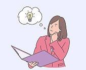 Thinking, idea, success, business concept.