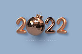 2022 New Year sign.