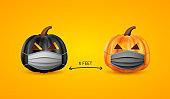 Halloween social distancing concept.