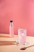 Summer refreshment pink drink