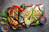 Baked Dorado fish