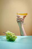 Wine Glass of white wine