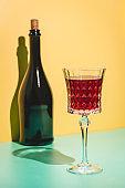Wine Glass of red wine