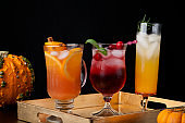 Spicy Apple Cider, Pear Sparkler, and Whiskey-Cranberry Cocktails - Fall Drinks