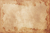Old brown paper grunge background. Abstract liquid coffee color texture.