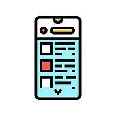 commerce application color icon vector illustration