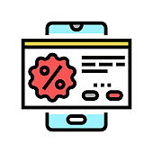 special offer color icon vector illustration