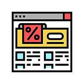 mega sale color icon vector illustration