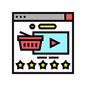 product review color icon vector illustration