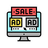 sales promotion color icon vector illustration