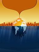 04.Ocean pollution concept