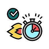 fast delivery service color icon vector illustration