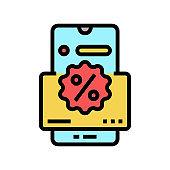 online loyalty color icon vector illustration