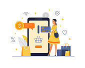 Payment for purchases by credit card in the mobile application