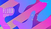 Rainbow Banner. Color Landing Page. Liquid Texture. Flow Fluid Shape. Vibrant Paper. Dynamic Background. Blue Mobile Design. Multicolor Backdrop. Violet Rainbow Banner