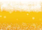 Beer background. Craft lager splash. Oktoberfest foam.