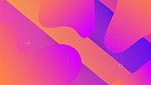 Dynamic Poster. Liquid Texture. Abstract Design. 3d Landing Page. Mobile Paper. Multicolor Presentation. Violet Vibrant Shape. Color Rainbow Background. Violet Dynamic Poster