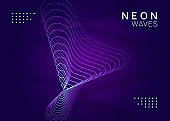 Neon trance event flyer. Techno dj party. Electro dance music. Electronic sound. Club fest poster.