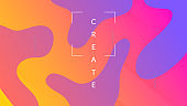 Abstract Poster. Color Landing Page. Gradient Website. Commercial Page. Wavy Spectrum Template. Violet Bright Shape. Graphic Shapes. Tech Modern Cover. Violet Abstract Poster