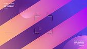 Minimal Background. Colorful Invitation. Wavy Rainbow Shape. Mem