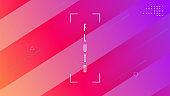Gradient Layout. Geometric Banner. 3d Landing Page. Purple Mobil