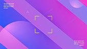 Abstract Cover. Violet Vibrant Banner. 3d Modern Design. Geometr