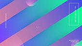 Geometric Shape. Minimal Element. trendy Paper. Blue Bright Design. Fluid Poster. Wavy Neon Flyer. Art Landing Page. Business Brochure. Lilac Geometric Shape