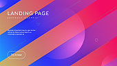 Abstract Layout. Purple trendy Background. 3d Gradient Banner. Technology Template. Dynamic Poster. Liquid Website. Flat Landing Page. Plastic Frame. Violet Abstract Layout