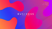 Fluid Banner. Violet Mobile Background. Color Multicolor Invitation. Liquid Shapes. Digital Element. Art Landing Page. Geometric Page. Flow Dynamic Shape. Violet Fluid Banner