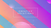 Digital Layout. Dynamic Poster. Flat Rainbow Banner. Commercial Wallpaper. Blue Mobile Cover. Trendy Paper. Color Landing Page. Minimal Concept. Magenta Digital Layout