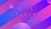 Liquid Poster. Cool Landing Page. Fluid Design. Flat Digital Banner. Multicolor Brochure.  Frame. Purple Bright Flyer. Dynamic Shapes. Magenta Liquid Poster