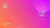 Digital Background. Flat Landing Page. Bright Page. Liquid Shape. Horizontal Illustration. Wavy Minimal Poster. Fluid Website. Pink Plastic Banner. Violet Digital Background