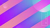 Rainbow Flyer. Neon Texture. Flat Landing Page. Blue Plastic Shape. Minimal Background. Tech Liquid Design. Creative Brochure. Trendy Frame. Lilac Rainbow Flyer