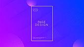 Liquid Flyer. 3d Fluid Layout. Business Magazine. Flow Landing Page. Vibrant Page. Blue   Background. Neon Banner. Rainbow Element. Magenta Liquid Flyer